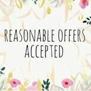 Reasonable offers accepted !! 😉🤗